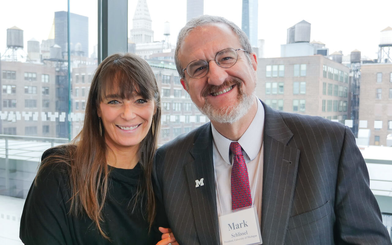 Posse Founder + President Debbie Bial with the President of the University of Michigan, Mark Schlissel