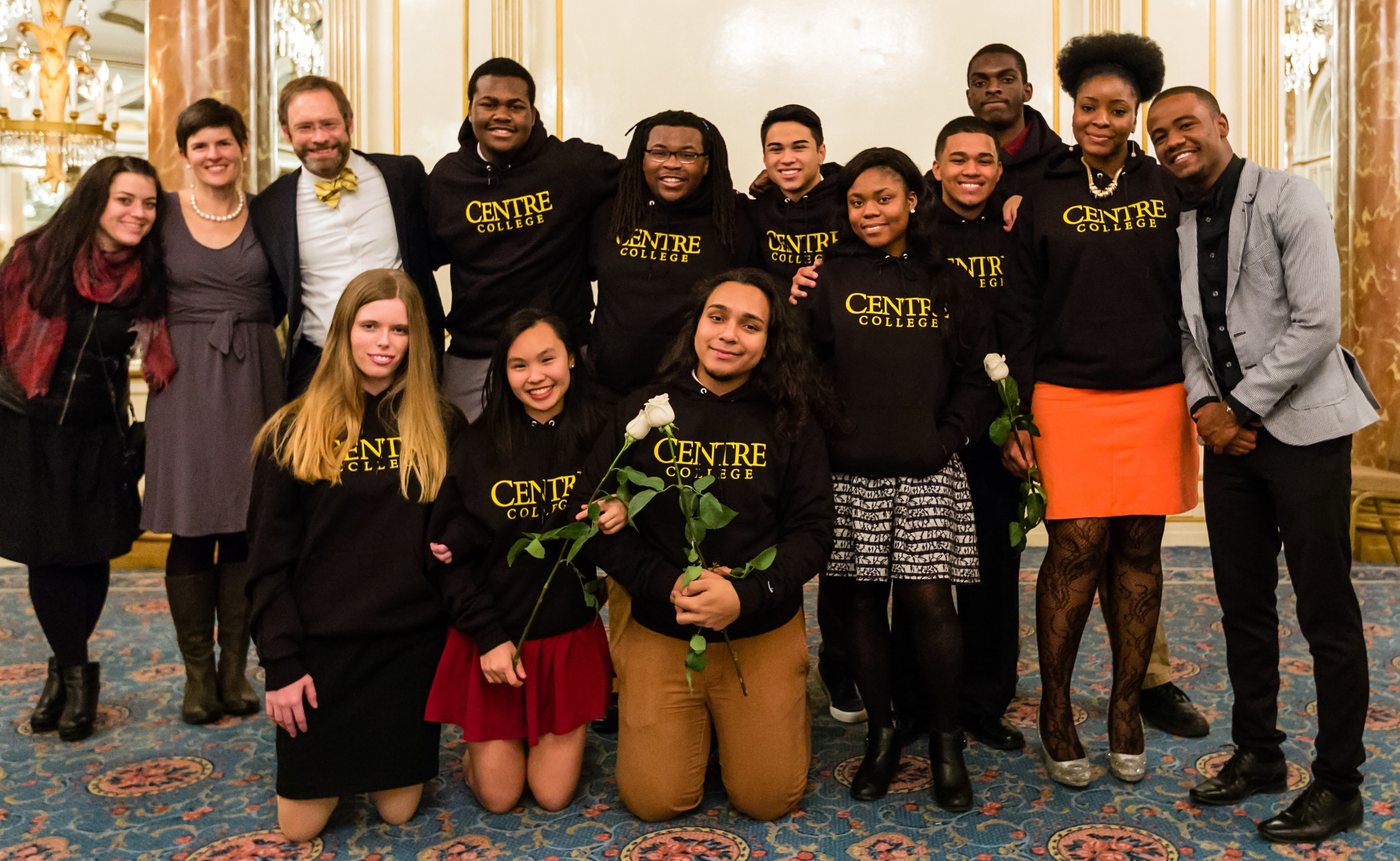 Bob Nesmith (back row, third from left) with new Posse Scholars and Centre community members in 2016.