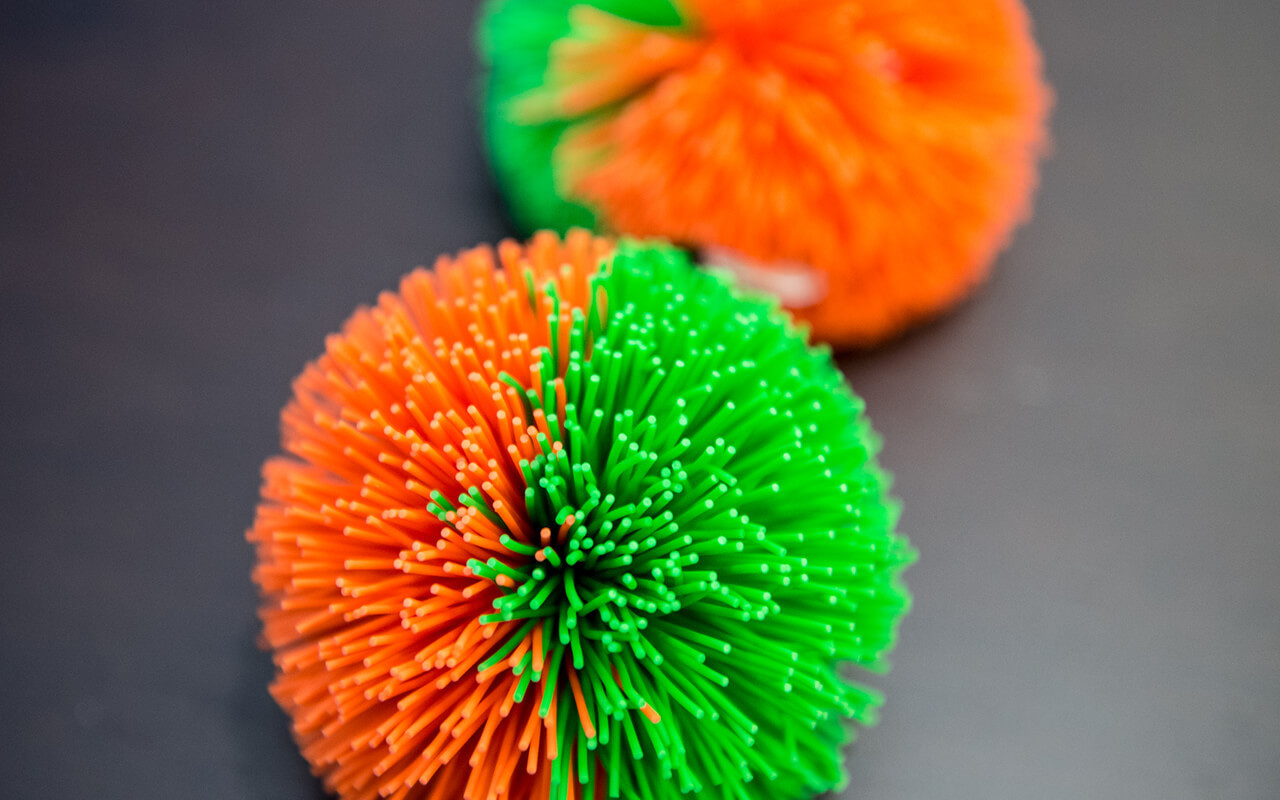 "The Posse ""one mic"" tool, the Koosh ball"