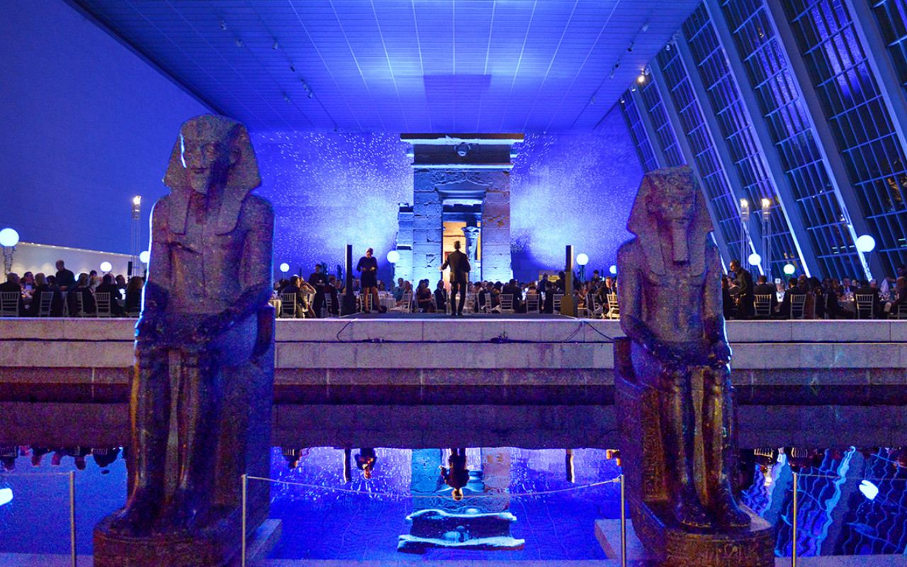The 2019 Posse Gala in the Metropolitan Museum of Art's Temple of Dendur.