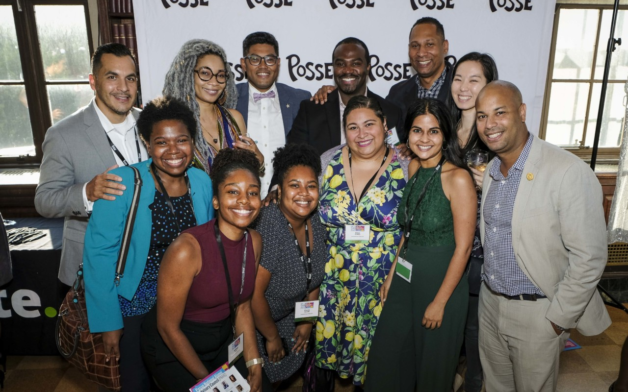 Posse alumni with 2019 Ainslie Award winner Carl Manalo (back row, third from left).