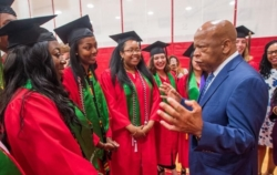 Congressman John Lewis and Posse Scholars at Boston University.
