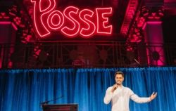 Hasan Minhaj was a featured performer at the 2018 Posse Gala.
