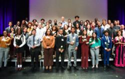 The newest Posse Scholars at the Posse D.C. Awards Ceremony in January.