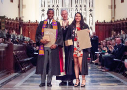 Posse Scholars Brandon Iracks-Edelin and Lauren Newman at their Sewanee: University of the South commencement.