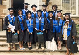 New Posse Scholar graduates of Hamilton College at their 2018 commencement ceremony.