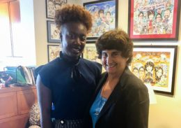 Lafayette College Scholar and Ubben Posse Fellow Princess Adeyinka with her host Hon. Patti Saris, Chief United States District Judge of the United States District Court for the District of Massachusetts.