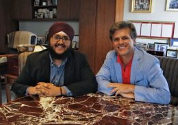 2019 Jeff Ubben Posse Fellow Gurbir Singh with Tim Shriver, chairman of the board of the Special Olympics.