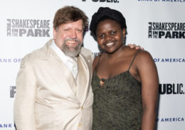 Oskar Eustis, artistic director of The Public Theater, with 2019 Jeff Ubben Posse Fellow Gloria Oladipo.