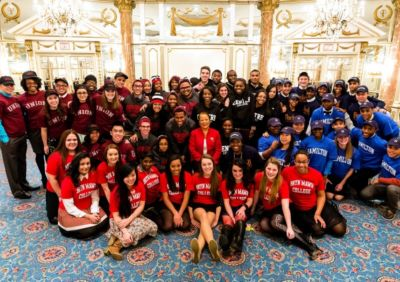 The 2013 Posse Boston Scholars with First Lady of Massachusetts and Posse National Board member Diane Patrick (center).