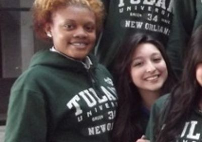 Tulane Scholar Krishell Johnson (left) with fellow Posse Scholar Kenia Carvajal.