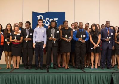 Posse Miami's 2013 Scholars at their Awards Ceremony.