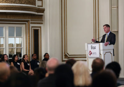 Boston Mayor Martin J. Walsh spoke at the city's Posse Awards Ceremony.