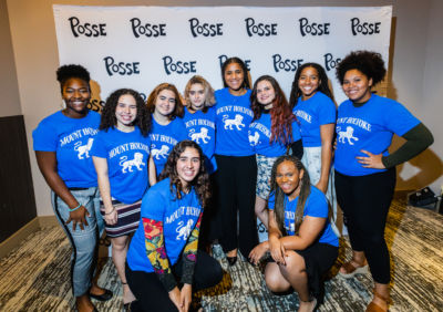 New Mount Holyoke College Posse Scholars at the 2020 Awards Ceremony.