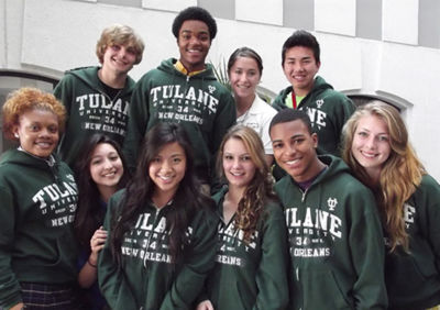 The first Tulane University Posse from New Orleans.