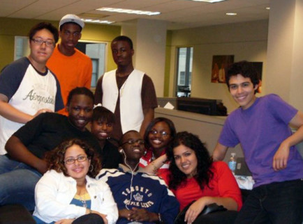 *Back row, from left:* Kenneth Chow, Robert Mills, Andre Paul.*Middle row, from left:* Viviane Clement, Michele Williams, Jessica Morrison.*Front row, from left:* Mariveliz Ortiz, Mouhamadou Diagne, Jennifer Beltran, John Trevino.