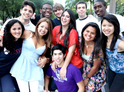 *Back row, from left:* Ernesto Arrocha, Alex Rafi, Daniel Brooks, Adrian Lievano, Rolando Lyles. *Middle row, from left:* Melanie White, Nathalie Figueroa, Alex-Sandra Del Canal, Melissa Espinal, Tan Chan. *Front row:* Bryan Cam.